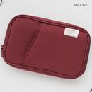 Brick red - Travel pocket zip around wallet