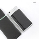 Gray - Premium business sticky pocket card case