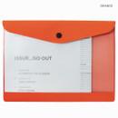 Orange - Premium business A5 clear file folder pouch