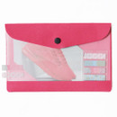 Pink - Premium business small clear file folder