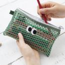Khaki - Som Som stitch mesh zipper pouch