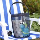 Navy - Som Som stitch mesh tote bag