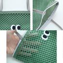 Detail of Som Som stitch square mesh zipper tote bag