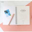 Intro - Agenda spiral undated planner