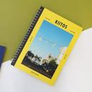 Yellow - Agenda spiral undated planner