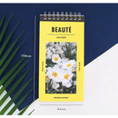 Size of Raison and beaute Spiral lined notepad
