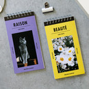 Raison and beaute Spiral lined notepad