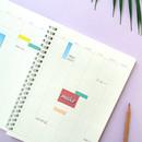 Annual plan - Spiral daily undated planner scheduler