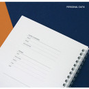 Personal data - Spiral 1/4 grid notebook