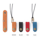 Colors of Snap button leather sunglasses necklace
