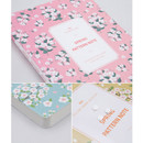 Detail of Colorful spring pattern lined notebook