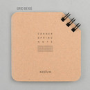 Grid beige - Corner mini spiral grid notebook
