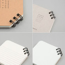 Detail of Corner mini spiral lined/grid notebook