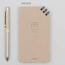 Line beige - Corner small spiral lined/Grid notepad