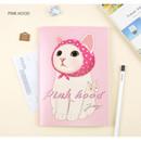 Pink hood - Choo Choo play lined notebook