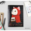 Red hood - Choo Choo play lined notebook