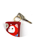 Detail of Choo Choo petit key ring with small zippered case