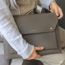 Gray - Think about W 13 inches flat laptop pouch