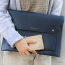 Navy - Think about W 13 inches flat laptop pouch