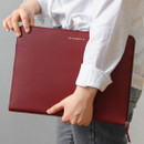 Burgundy - Think about W 13 inches edge laptop case