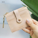 Beige - Think about W folding card case