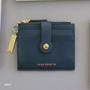 Navy - Think about W folding card case