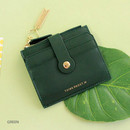Green - Think about W folding card case