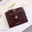 Burgundy - Think about W folding card case