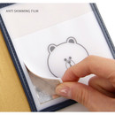 Line friends RFID blocking long passport case with leather sticker