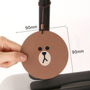 Size of Line friends travel luggage name tag set