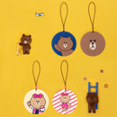 Line friends travel luggage name tag set