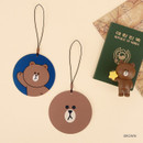 Brown - Line friends travel luggage name tag se