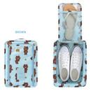 Brown - Line friends travel zip shoes pouch bag ver.3