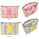 Option of Line friends travel mesh large zipper pouch