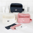 Travel toiletry bag and toothbrush pouch set