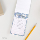 Tropical - Becoming pattern checklist notepad