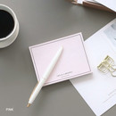 Pink - Life is a journey becoming memo pad
