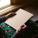 Deep kraft spiral lined notebook