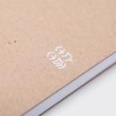 Detail of Deep kraft spiral lined notebook