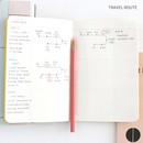 Travel route - Recit de voyage travel planner notebook