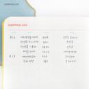 Shopping list - Recit de voyage travel planner notebook