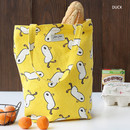 Duck - Jam Jam pattern small tote bag
