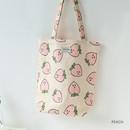 Peach - Jam Jam pattern small tote bag