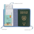 Composition of Tropical travel passport holder case