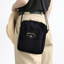 Black - Voyager double zippered crossbody bag