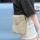 Beige - Voyager double zippered crossbody bag