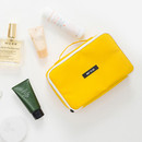 Yellow - Weekade travel makeup cosmetic pouch bag
