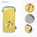 Beach bear - Hey buddy soft flat pencil case