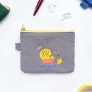 Hey buddy soft flat small zipper pouch