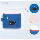 Starry night - Hey buddy soft flat small zipper pouch